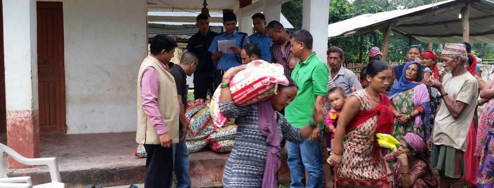 Überschwemmungshilfe in Nepal von Hope e.V.