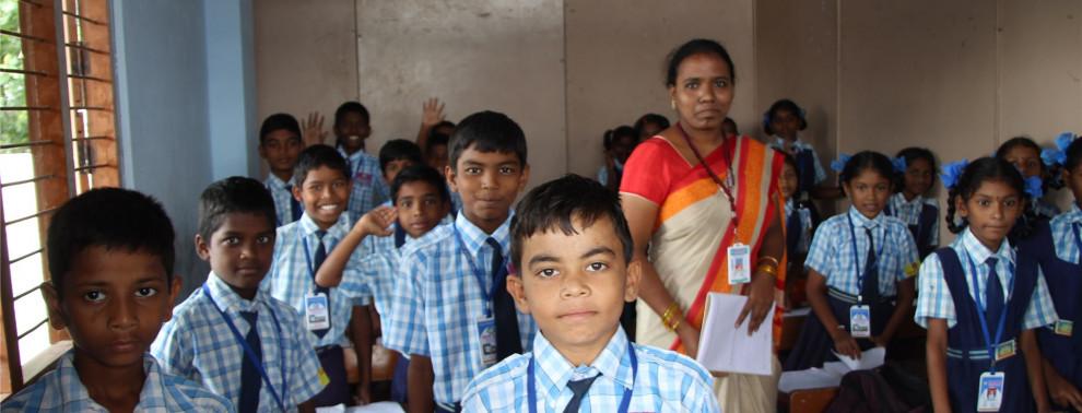Schule in Chillakallu, Hope e.V. hilft Kindern bei der Bildung