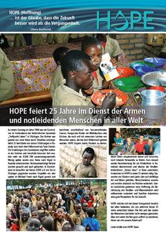 Hope Newsletter 2019, Berichte über Hilfe