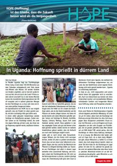 Hope Newsletter, Jahresberricht, Berricht