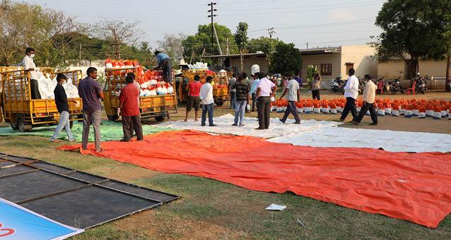 Chillakallu Corona Hilfsgüter für Indien