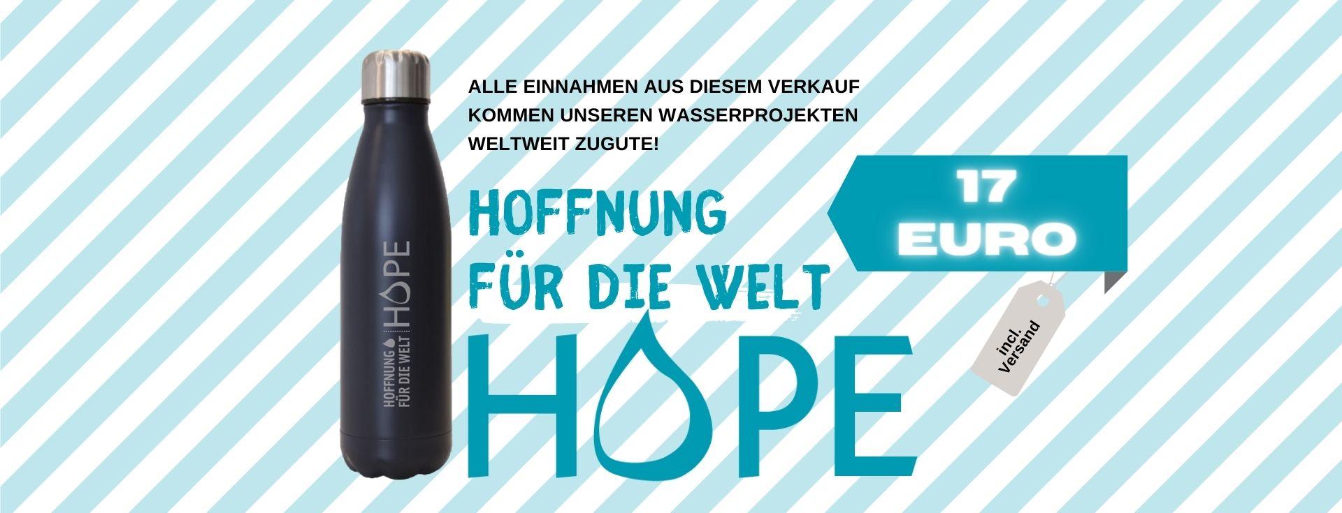 Hope e.V. Projekt Wasserflaschenkauf für Trinkwasserprojekte