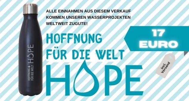Wasser rettet leben, Sauberes Trinkwasser, Flasche für Hoffnung