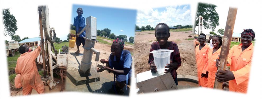 Aroyo, Südsudan, Schmitz-Stiftung, Brunnenwasser, Brunnen, Wasser