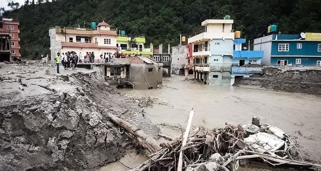 Nepal. Monsum, Überschwemmung, Sindhupalchock, Kathmandu, Überschwemmungen